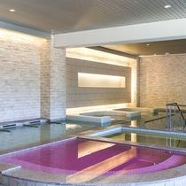 【お好み風呂HA-SHI-GO】浴場内のエレベーターを降りた場所にございます。