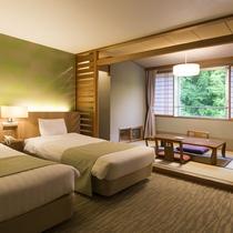 【ユニバーサルスタンダード】和室スペースを備えた和洋室タイプです(部屋タイプはご指定頂けません)