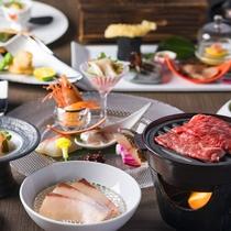 【会席・冬】この冬は北海道と石川県、二つの地域の旬の食材を会席仕立てでご提供致します。