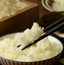 朝食*自家製のお米です*