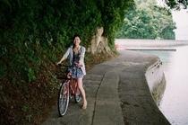 無料貸出自転車でサイクリング