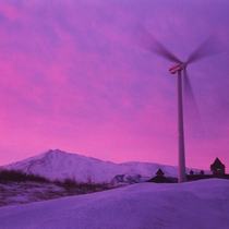 *息を飲むような美しいグラデーションの冬の仁賀保高原