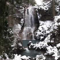 *雪に包まれる奈曽の白滝