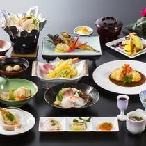 *【夕食_九十九御膳】さんねむ温泉で最もスタンダードなお料理です。
