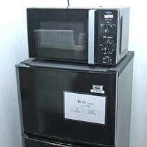 *お部屋の備品には冷蔵庫と電子レンジもご用意ございます。グループ旅行もビジネスも快適に♪