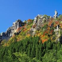 *拝み岩の見事な紅葉