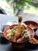 人気の岩魚丼