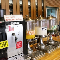 *朝食バイキング/人気の「なかしべつ牛乳」の他、ジュースやコーヒー類が充実!