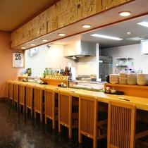 *炉ばた「開陽台」/お寿司からオリジナルのメニューまで、新鮮な魚介を使った旬の味覚を味わえます。
