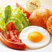 *【朝食一例】モーニングエッグプレート《パン付》
