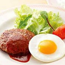 *【朝食一例】モーニングハンバーグプレート《ライス付》