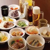 【夕食バイキング】18:00~23:00 食べ放題+ソフトドリンク付