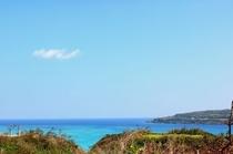 館内からの景色・古宇利島