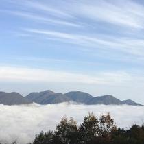 客室から見た雲海の眺望