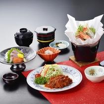 【夕食一例/SKIプラン】お手ごろ価格で、お腹いっぱい♪ボリューム重視のご夕食です。