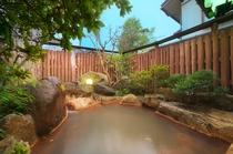 【浴室】源泉かけ流し露天風呂