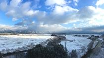 旅館からの雪景色