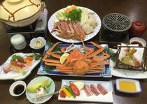ずわい蟹と和牛ステーキプラン
