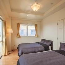 ツインルーム 3階には寝室が2部屋