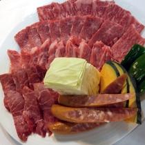 【焼肉もとぶ牧場 車で10分】 もとぶ牛/得盛合わせ 上から特上ロ-ス・上カルビ・並カルビ・モモ肉