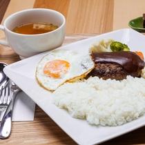 アグー豚ハンバーグセット(サラダ・スープ・漬物・デザート付き)(水休/予約制)