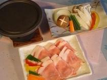別注料理「信州ポーク石焼ステーキ」