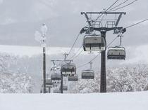 風景 リフトと冬景色
