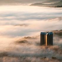 雲海とウェスティンルスツリゾート