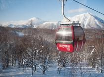 風景 ゴンドラと冬景色