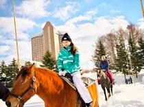 アクティビティ体験(冬乗馬)