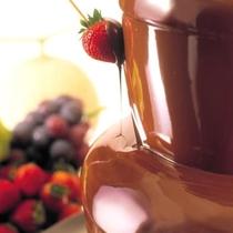 人気のチョコレートファウンテン★バイキング