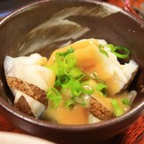 <夕食一例>ウツボと白身魚の湯引き
