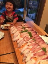 新鮮なお魚のお寿司