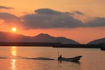 小値賀島の朝陽
