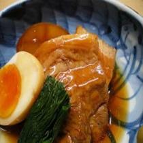 「夕食一例」豚の角煮