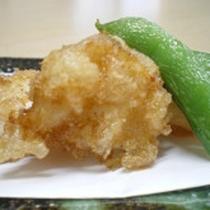 *気仙地方ならではの「まんぼう」。酢味噌和えや腸の唐揚げなどで提供しています。