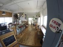 2階のサンドウィッチカフェ「Cafe on the ROUTE」