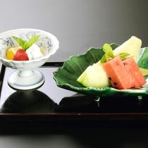 【松・華会席】デザート一例 フルーツの盛り合わせ