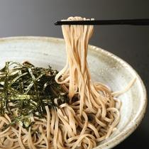 【蕎麦会席】安曇野産蕎麦粉使用、喉ごしの良いお蕎麦をどうぞ