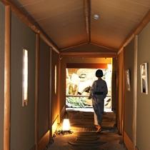 石畳の廊下のイメージ