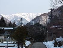 福地温泉からの春の眺め