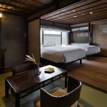 【オナエ103室】畳と木の温もりある落ち着いた雰囲気のメゾネット形式