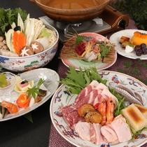 【常盤鍋&和会席】魚介やお肉をふんだんに使用!旬や野菜とと共にお召し上がり下さい。