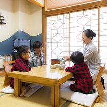 【客室一例】小さなお子様が居ても、和室ならママパパ安心♪♪