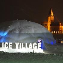 【冬まつり】雪と氷で作られた「アイスビレッジ」