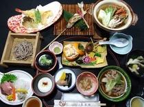 郷土料理プランのお夕食例