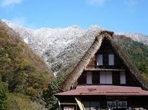 初雪の菅沼