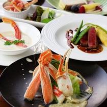 カニ創作フランス料理 一例