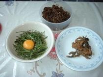 山菜料理の3種類