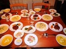 夕食例です